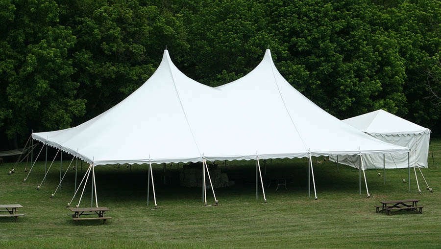 40u0027 x 60u0027 High Peak Push Pole-Type Tent & Tent Rentals for Parties and Events | Brooke Rental Center
