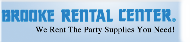 Brooke Rental - We Rent the Party Supplies You Need